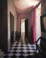 "<h5>Le rideau rose</h5><p>Oil on canvas, 32"" x 25½"" (81.3cm x 64.8cm) </p>"