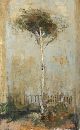 "<h5>Tree</h5><p>Oil and wax on canvas, 32 x 51"" (81 x 130cm)																																																																																																																																																																									</p>"