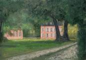 "<h5>Chamblac</h5><p>Oil on canvas, 31¾"" x 45½"" (81 x 116cm)</p>"