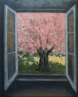"""<h5>Fenêtre rose</h5><p>Oil on canvas, 63 ¾ x 51 ¼"""" (162 x 130cm)</p>"""