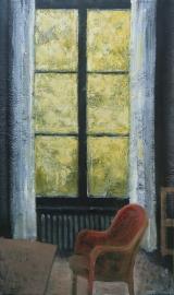 """<h5>Fenêtre Jaune</h5><p>Oil on canvas, 63"""" x 38¼"""" (162 x 97cm)</p>"""