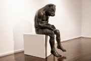 "<h5>Reading Minotaur (Giant)</h5><p>Bronze, 54 ½ x 23 x 30"" (138 ½ x 58 ½ x 76 ¼cm)</p>"