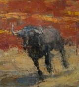"<h5>Toro Bravo no. 33</h5><p>Oil on canvas, 55"" x 50"" (140 x 127cm)</p>"