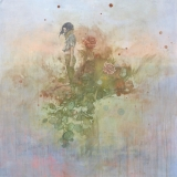 "<h5>Crimson</h5><p>Acrylic on canvas, 48 x 48"" (122 x 122cm)</p>"