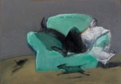 "<h5>Do not disturb</h5><p>Mixed media on canvas, 15"" x 21½"" (38 x 54.6cm)</p>"
