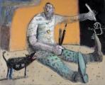 """<h5>Dessine moi un mouton</h5><p>Mixed media on canvas, 32"""" x 39"""" (81.3 x 99cm)</p>"""