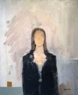 "<h5>Mademoiselle</h5><p>Oil on canvas, 25¼"" x 21"" (64 x 53.3cm)</p>"