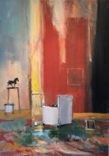 """<h5>Little Black Horse</h5><p>Oil on canvas, 36"""" x 25½"""" (91.4 x 64.7)</p>"""