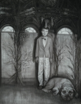 """<h5>The Forgetting Room</h5><p>Charcoal on paper, 50 x 38"""" (127 x 97cm) </p>"""