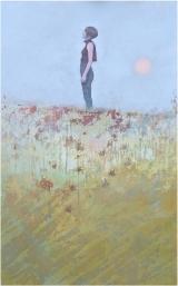 "<h5>Against the wind </h5><p>Acrylic on canvas, 48"" x 30"" (122 x 76cm)</p>"