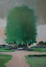 """<h5>Parc Monceau </h5><p>Oil on canvas, 36¼"""" x 25½"""" (92 x 65cm)</p>"""