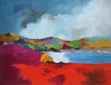 "<h5>Crayfish Lake</h5><p>Oil on canvas, 35"" x 45½"" (89 x 116cm)</p>"