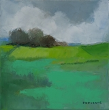 """<h5>Square Meadow</h5><p>Oil on canvas, 15⅔"""" x 15⅔"""" (40 x 40cm)</p>"""