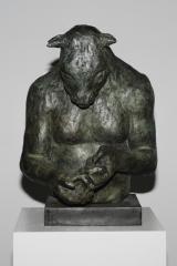 "<h5>Large Minotaur Bust (with bird)</h5><p>Bronze, 20"" x 14"" x 16"" (51 x 25 x 25cm)</p>"