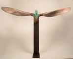 "<h5>Helicoide VI</h5><p>Bronze, wood, and iron, 18 x 91¼ x 15"" (46 x 232 x 38cm)</p>"