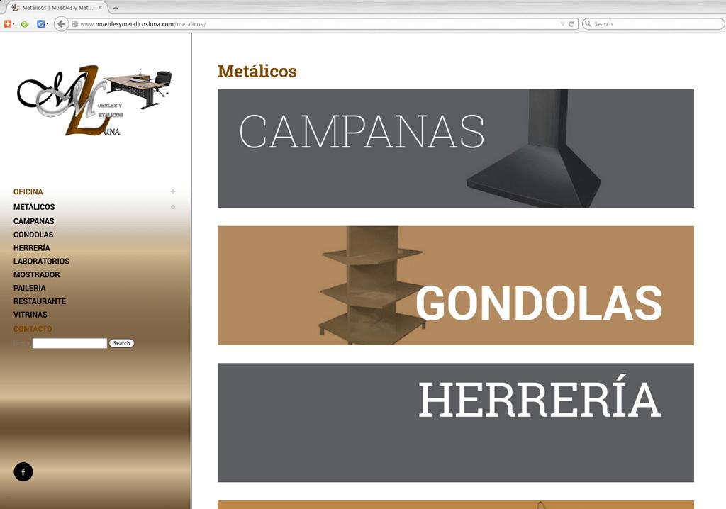 Muebles y Metálicos Luna / Fabricante de Muebles de Oficina, Herrería y Pailería