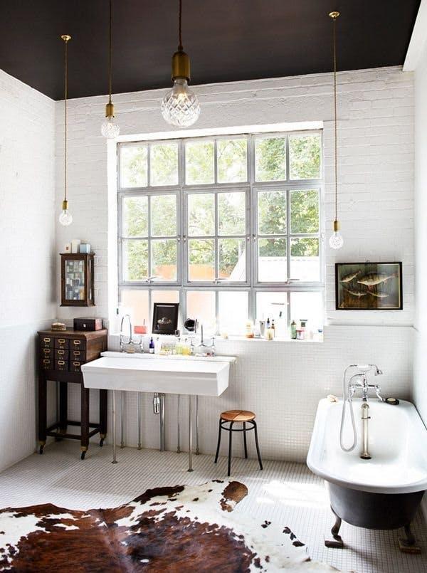 Badkamer half beton cire loodgietersbedrijf witman