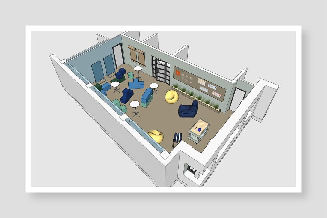 HUISnummer5 Den Haag | interieuradvies, interieurontwerp, bouwbegeleiding, styling en design. Lean Obeya ruimte Staedion.