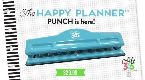 happy planner punch
