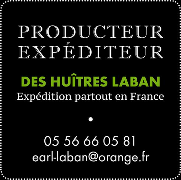 Producteur expéditeur des huitres Laban