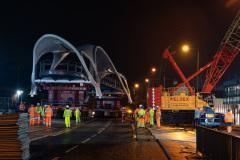 The A63 bridge on the move