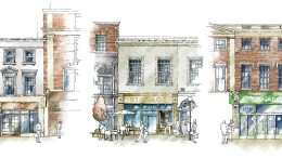 Concept sketches have been commissioned to show how the restoration of frontages to properties on Whitefriargate could be delivered.
