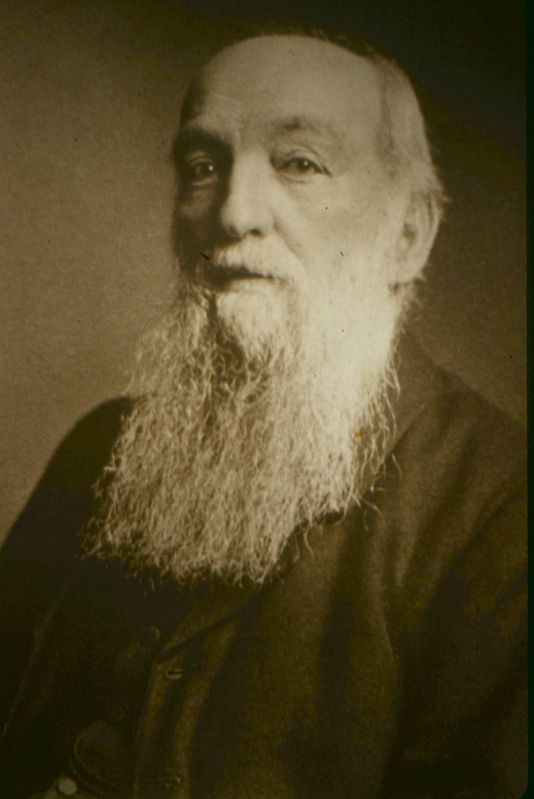 Portrait of JR Mortimer at Hull and East Riding Museum.