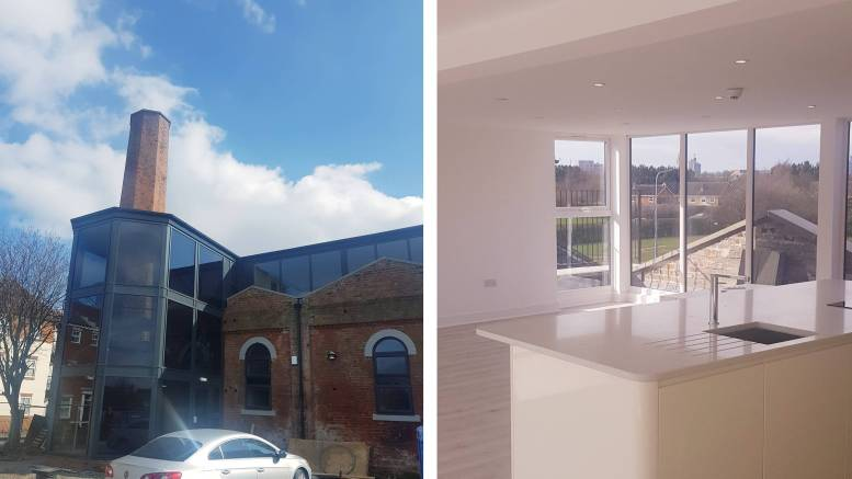The development at the old Winding House in Victoria Dock has been converted into five stunning apartments.