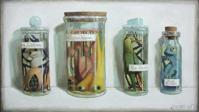 Katherine Reekie, Specimen Creatura, 2013, at the Is This Planet Earth? exhibition at the Ferens.