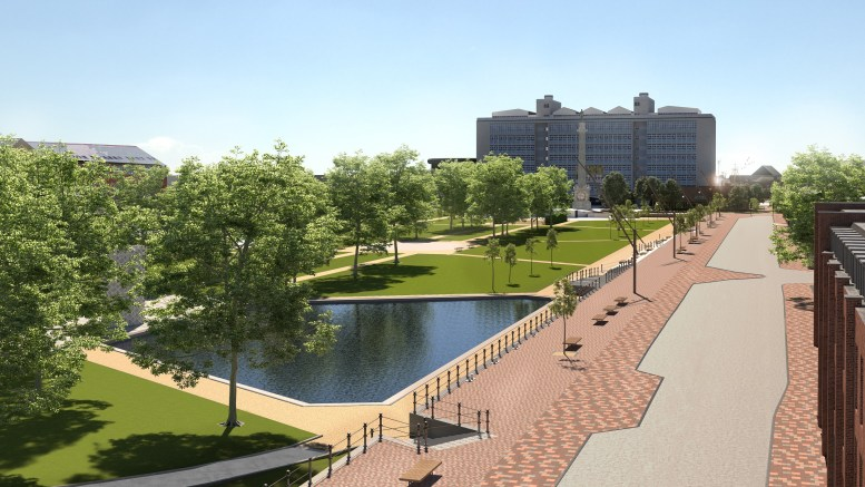 The Queens Gardens masterplan will provide enticing open spaces, improved access and seating.