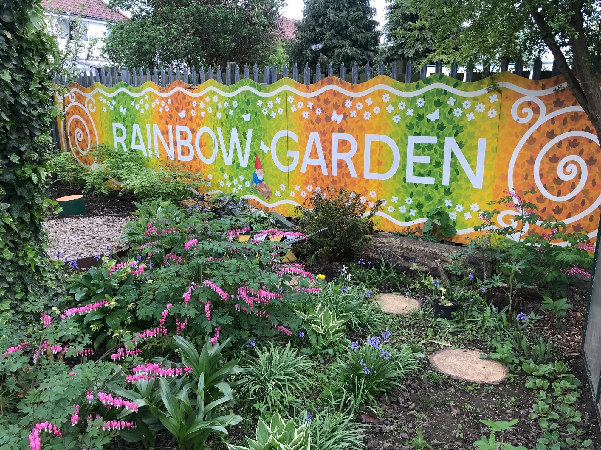 The secret rainbow garden.