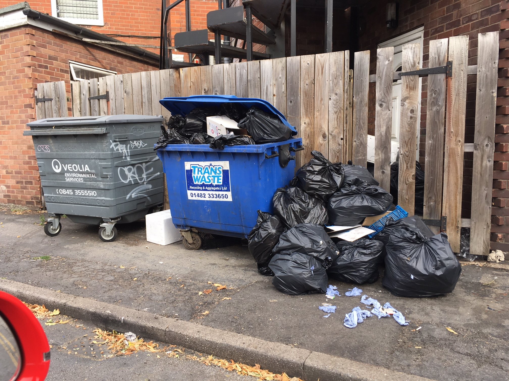 Waste dumped by Lucca in Hull.