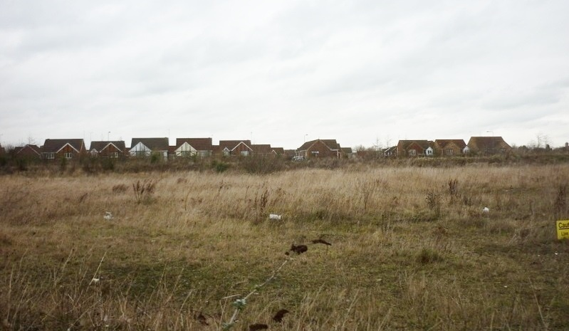 Land awaiting development near Priory Park.