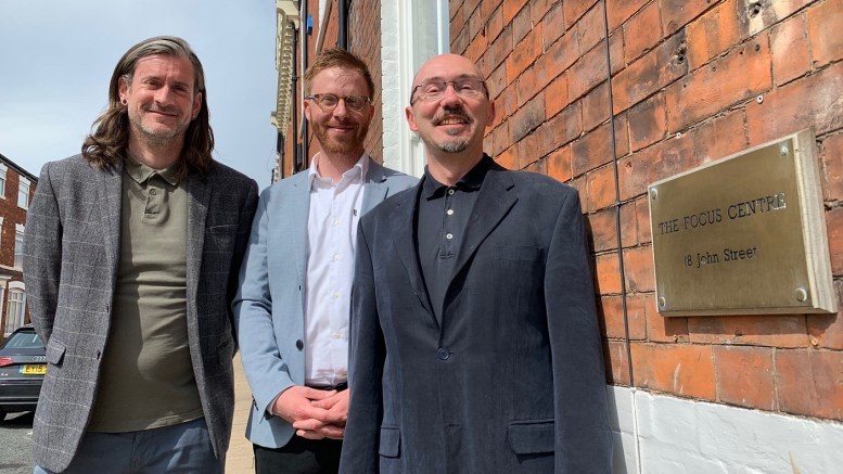 From left, Focus business development manager Phil Hindle, operations director Thomas Donohue and clinical director Peter Palumbo.