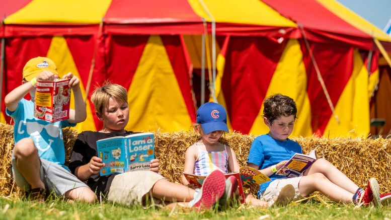 Children outside the big top at the Big Malarkey Festival. Picture: Jerome Whittingham @PhotoMoments