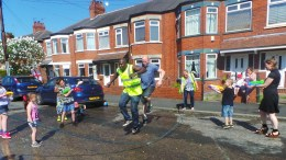 The Playing Out Project sees skipping ropes and chalks provided for residents.
