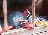 Waste piling up in shed