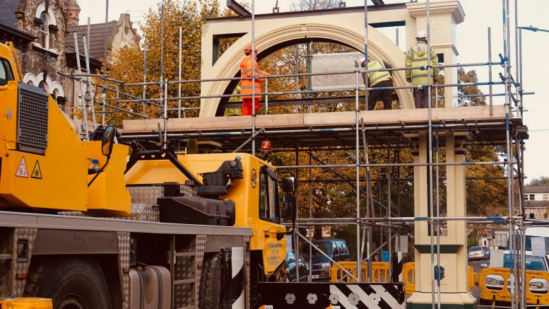 The restoration of the Pearson Park archway