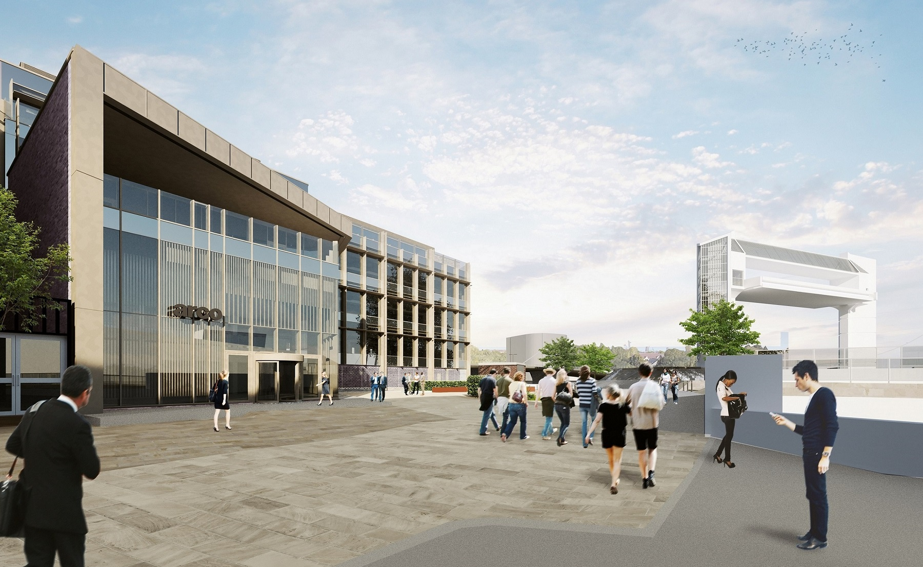 How the new Arco head office in Hull's Fruit Market waterfront district will look.
