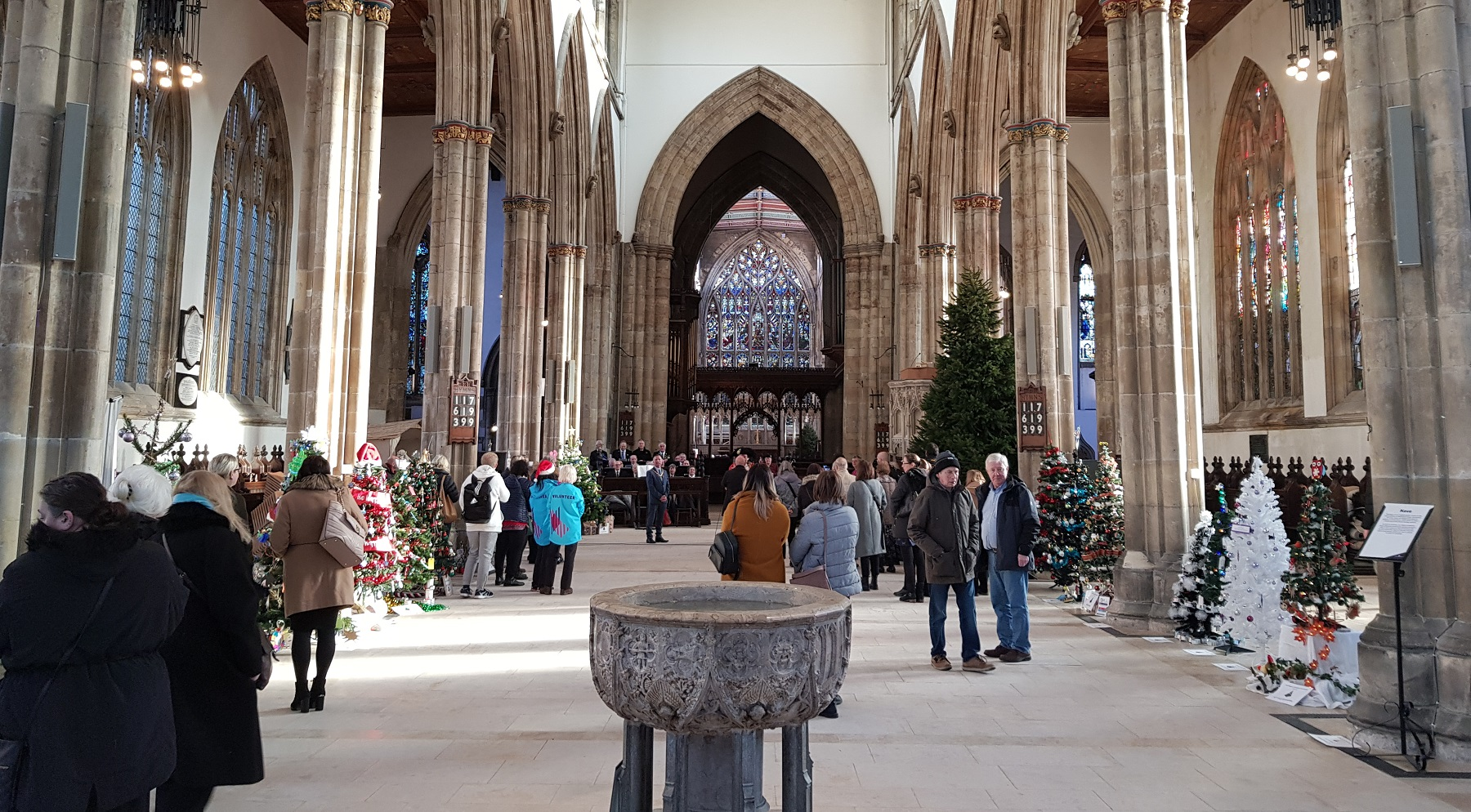 The Christmas Tree Festival at Hull Minster