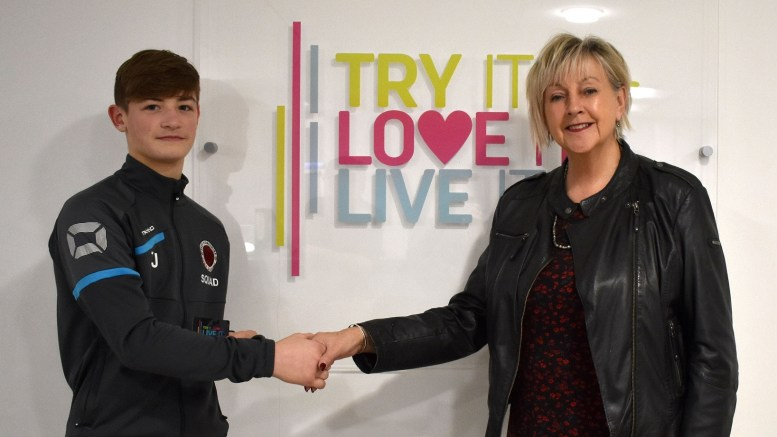 Judo player Tommy Jackson with and Cllr Denise Thompson