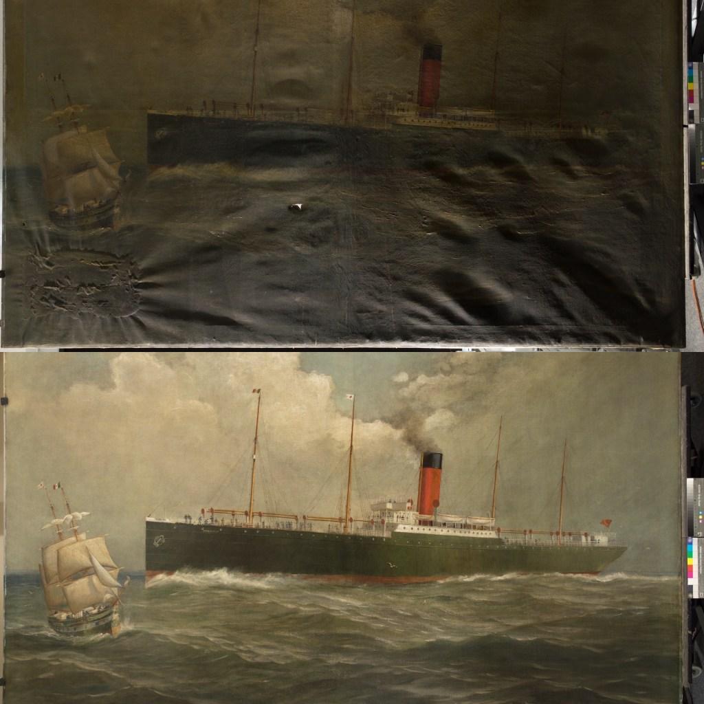Maritime restored painting