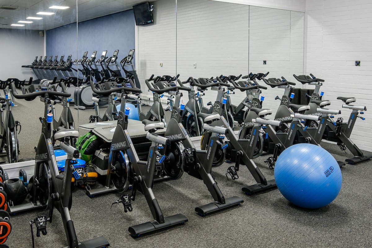 The new gym equipment at Ennerdale.