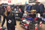 Natalie Csoppu at Blacks outdoor clothing and equipment shop in Jameson Street.