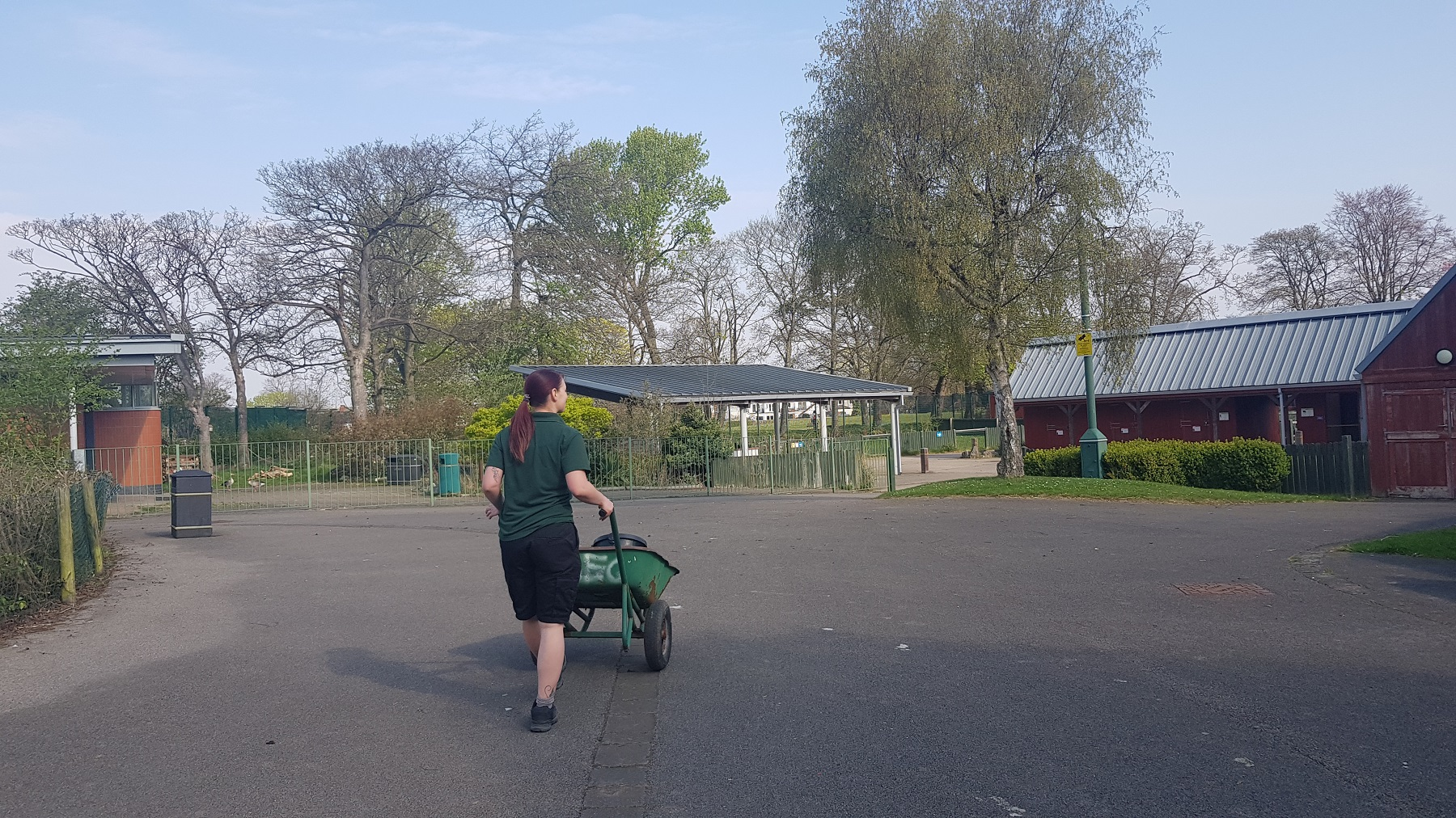 A zookeeper at East Park's Animal Education Centre