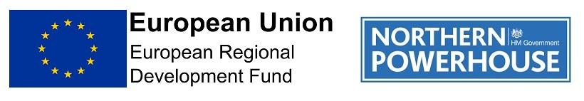 European Regional Development Fund and Northern Powerhouse logos
