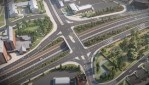 An artist's impression showing how the A63 upgrade will look.
