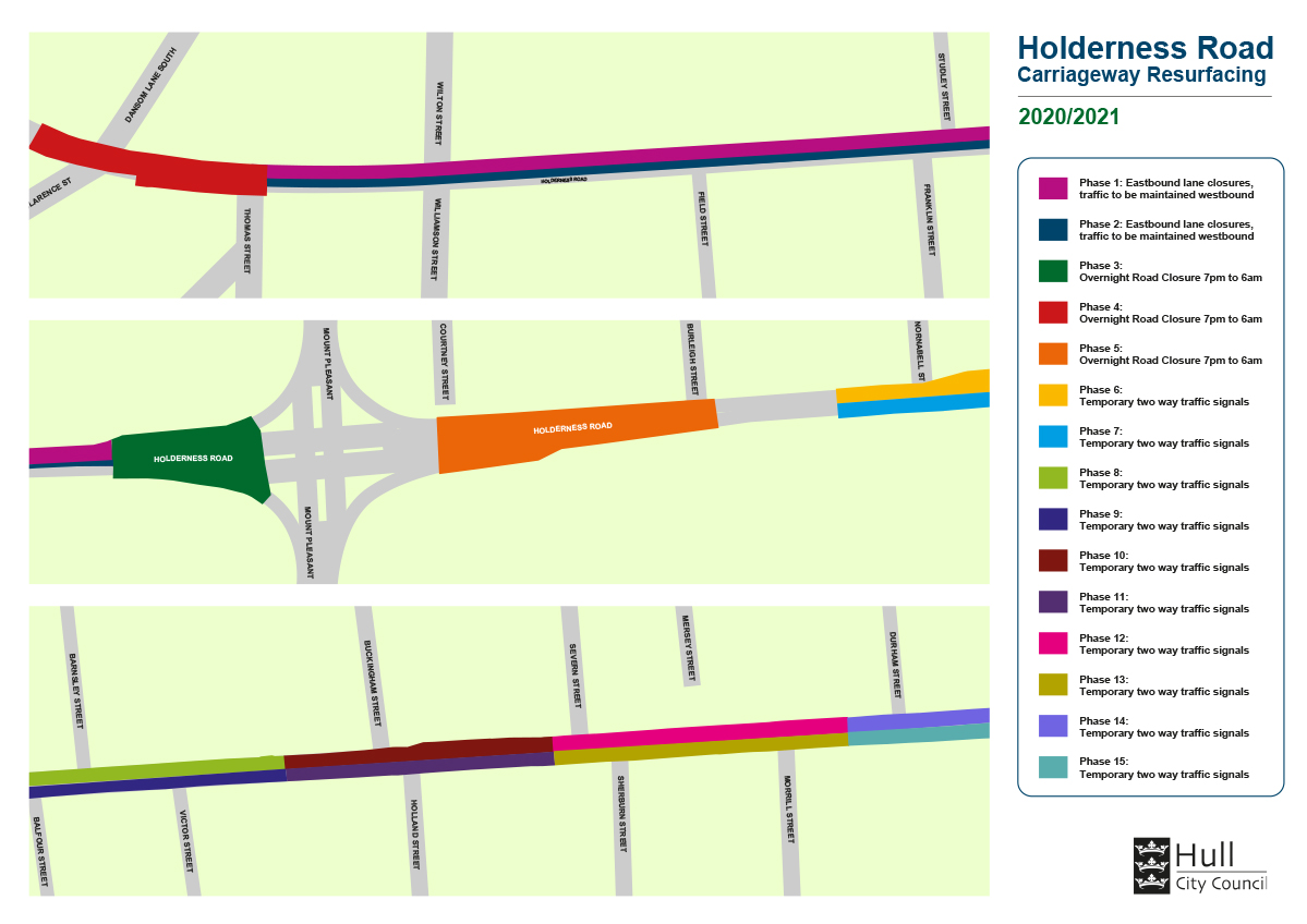 Holderness Road Map