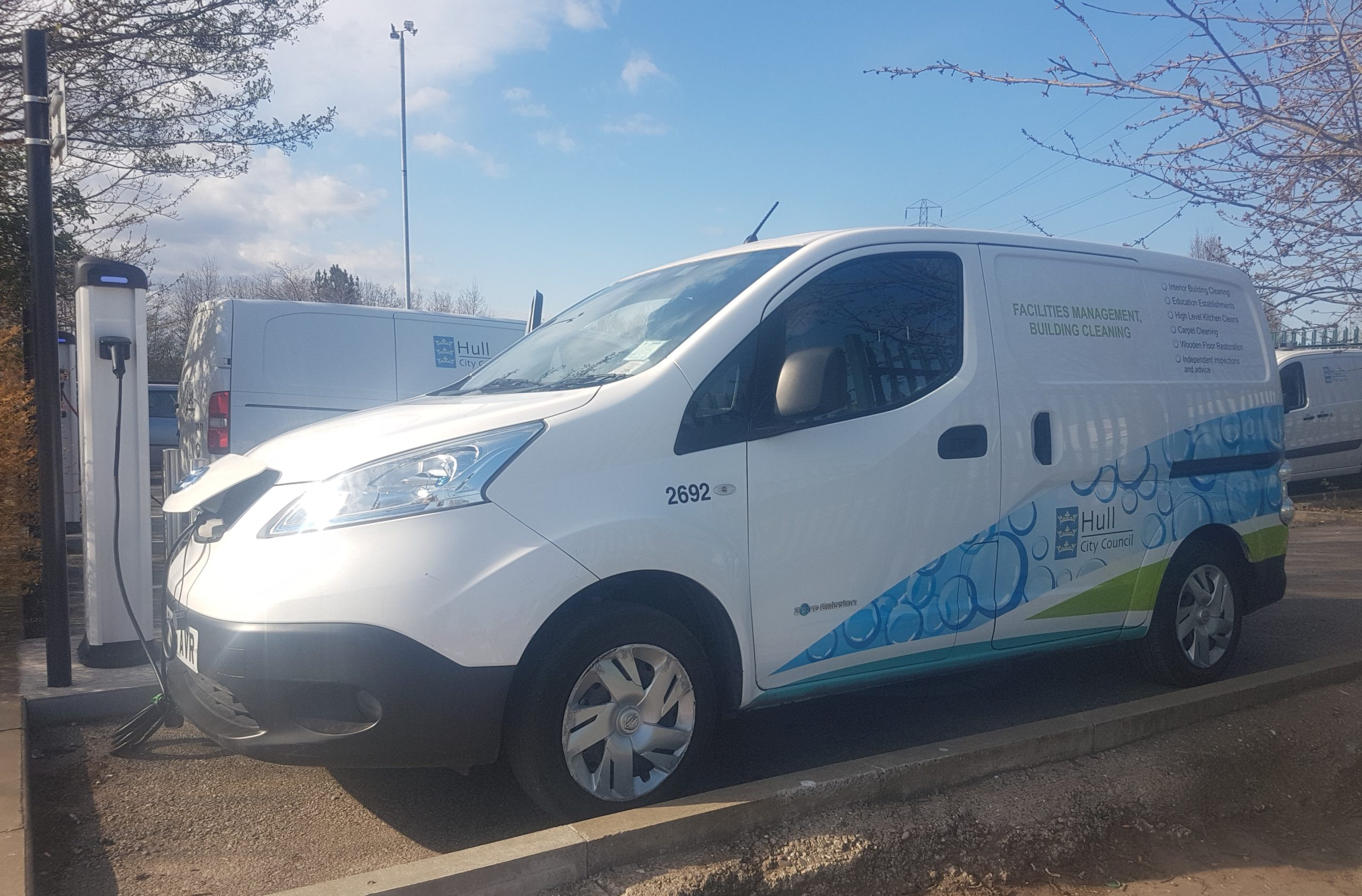 One of Hull City Council's fleet of electric vehicles.