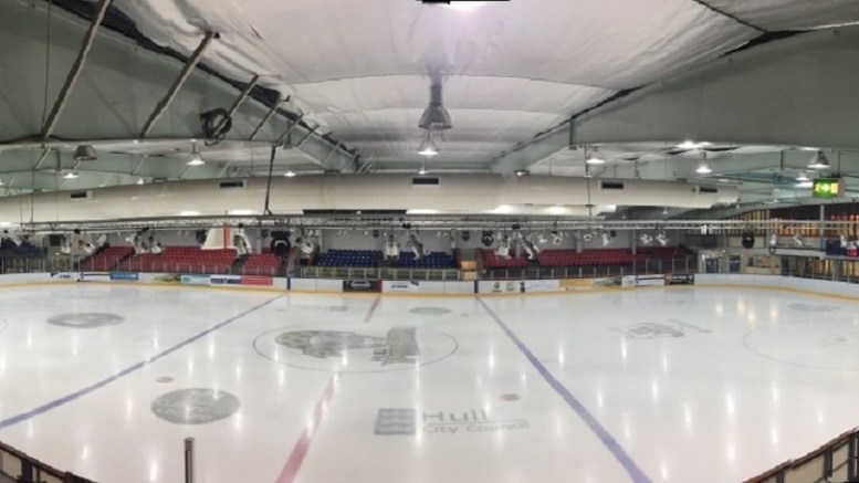 The Hull Arena's Olympic-size ice rink.